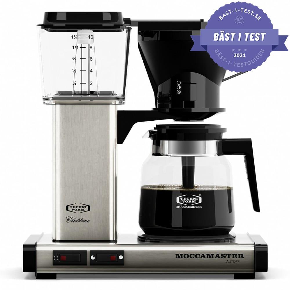 Moccamaster är bästa kaffebryggaren i testerna
