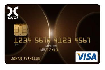 Gratis VISA-kort från OKQ8