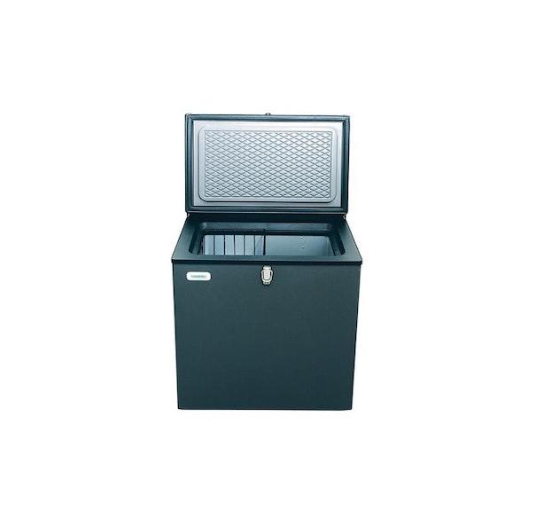 Frysbox 12v för husvagn och husbil. Denna frysbox går även att ansluta via gasol eller ett vanligt 240 v el uttag.