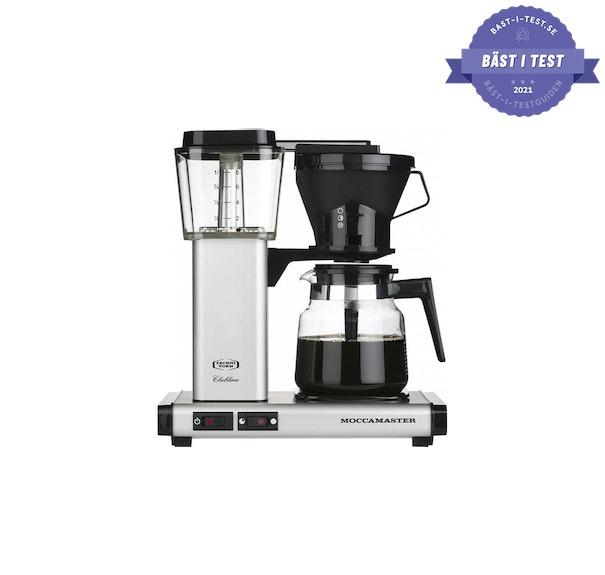 Kaffebryggare bäst i test - Moccamaster är bästa kaffebryggaren i testerna.
