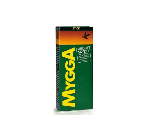 Ett rekommenderat myggmedel i testet är MyggA myggmedel