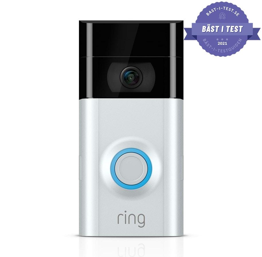 dörrklocka - smart dörrklocka - trådlös dörrklocka från Ring Video Doorbell V2